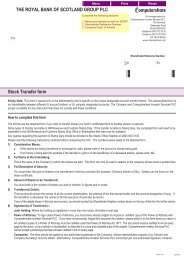 Stock Transfer form THE ROYAL BANK OF SCOTLAND ... - Investors