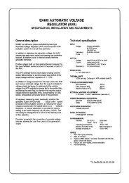 SX460 AUTOMATIC VOLTAGE REGULATOR (AVR) - Rotek