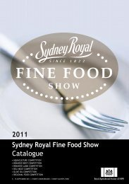 2011 Sydney Royal Fine Food Show Catalogue - The Sydney Royal ...
