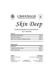 James & Stuart Brockman Book Structures - J Hewit & Sons Ltd