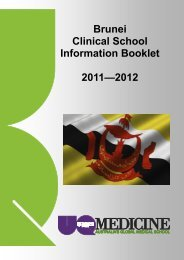 Brunei Clinical School Information Booklet 2011—2012