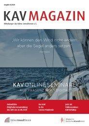 KAV Magazin Ausgabe 2 2020