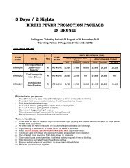 3 Days / 2 Nights - Royal Brunei Airlines