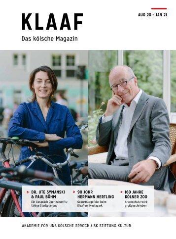 KLAAF Das kölsche Magazin Aug 2020 - Jan 2021