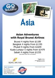 Asian Adventures with Royal Brunei Airlines