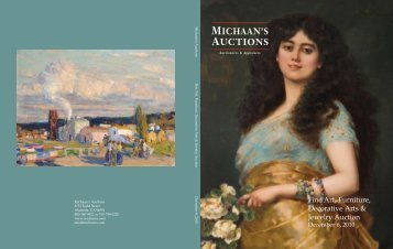 Fine Art, Furniture, Decorative Arts & Jewelry Auction - Michaan's ...