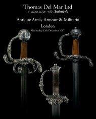antique arms, armour & militaria - Thomas Del Mar Ltd