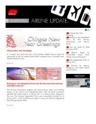 Print - Abacus eNewletter: Airline Update