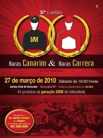 Pré - Catálogo - 5º Leilão Haras Canarim & Haras Carrera