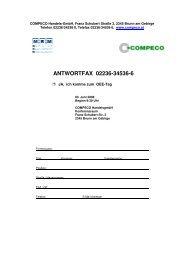 ANTWORTFAX 02236-34536-6 - Compeco