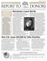 Benvenuta a Laura Dal Bo Giro T.O. raises $65,000 for Villa Charities