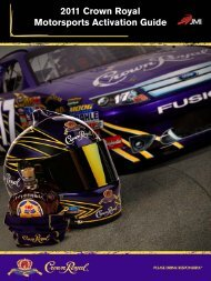 2011 Crown Royal Motorsports Activation Guide