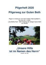 Pilgerheft - Pilgerweg zur Guten Beth 2020