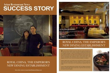 SUCCESS STORY - Royal China Restaurant