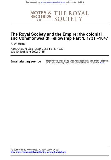 Home, part 1 - Notes and Records of the Royal Society