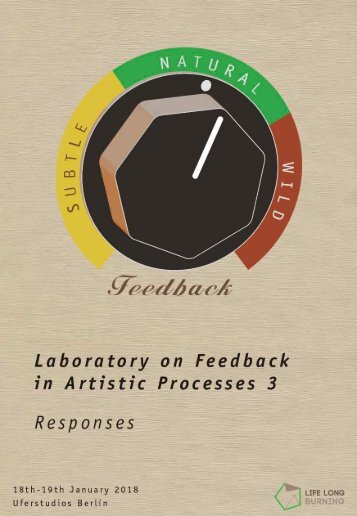 Laboratory on Feedback in Artistic Processes 3