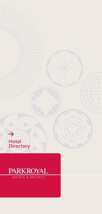 Hotel Directory - PARKROYAL Hotels & Resorts