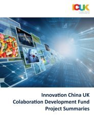 Innovation China UK Colaboration Development Fund Project ...