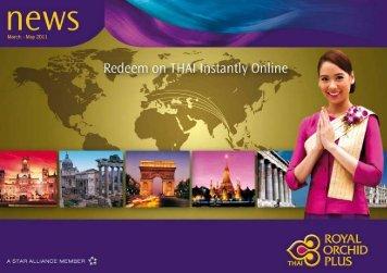 Refreshing Royal Orchid Plus In 2011 - Thai Airways