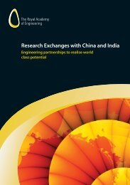 Research Exchanges with China and India - Royal Academy of ...