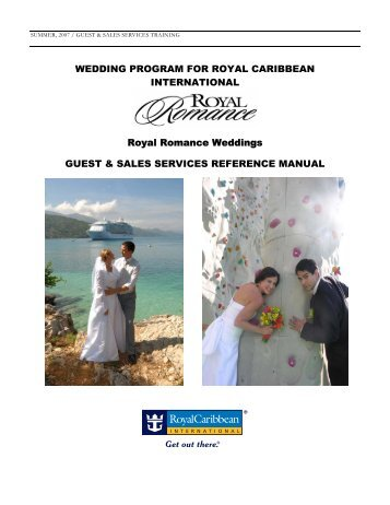 WEDDING PROGRAM FOR ROYAL CARIBBEAN INTERNATIONAL ...