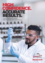 Honeywell Hydranal, Accurate Results Brochure