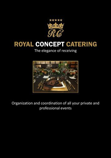 Download the brochure - Royal Concept Catering