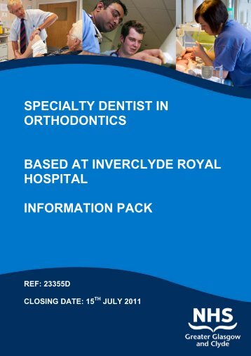specialty dentist in orthodontics based at inverclyde royal hospital ...