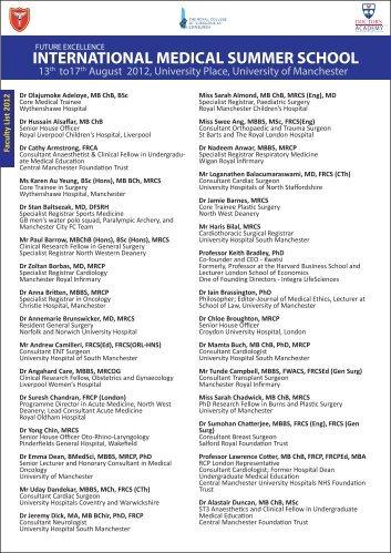 INTERNATIONAL MEDICAL SUMMER SCHOOL - Doctors Academy