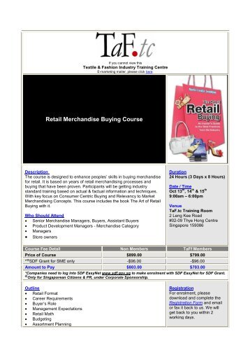 Retail Merchandise Buying - Textile & Fashion Industry Training ...