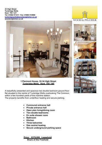 1 Piermont House, 32-34 High Street, Tunbridge Wells, Kent ... - Vebra