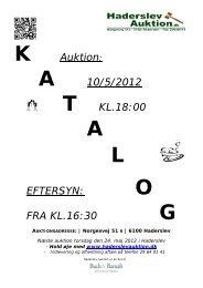 A 10/5/2012 T KL.18:00 A L EFTERSYN - Haderslev Auktion