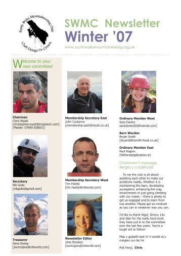SWMC Newsletter Winter - South Wales Mountaineering Club