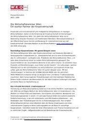 Die Wirtschaftskammer Wien: Ein starker Partner der ... - JART