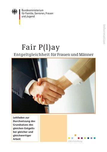 Fair P(l)ay - Bundesministerium für Familie, Senioren, Frauen und ...