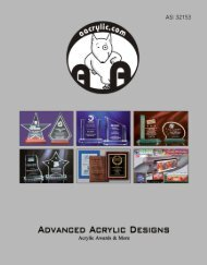 download catalog - Advanced Acrylic Designs