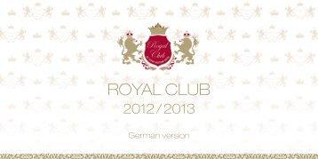 royal club brochure - Savoy Westend Hotel