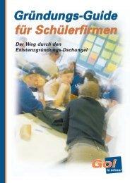 Gründungs-Guide für Schülerfirmen - Stiftung Partner für Schule NRW