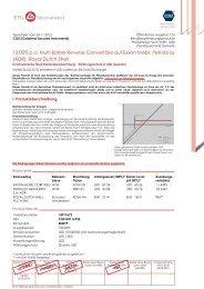 Termsheet (DE) - EFG Financial Products