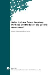 Swiss National Forest Inventory: Methods and Models of the ... - WSL