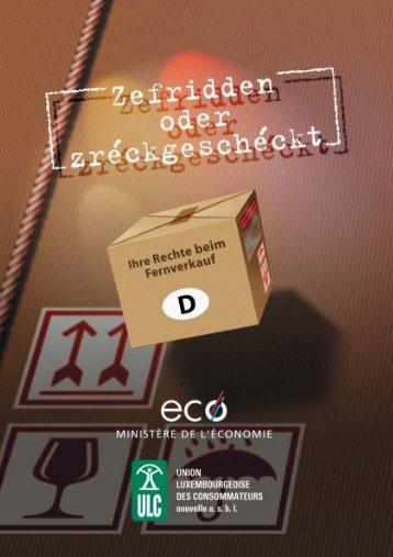 Im Allgemeinen verfügt der Verbraucher - Union luxembourgeoise ...