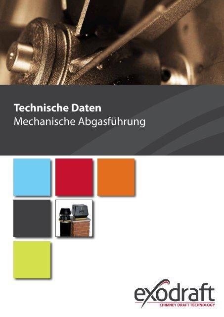 Technische Daten Mechanische Abgasführung - Exodraft
