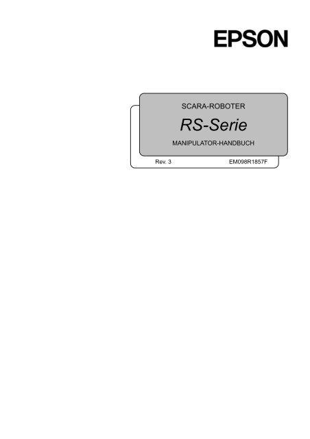 RS-Serie Manipulator-Handbuch - Das zeichnet Epson Roboter aus ...
