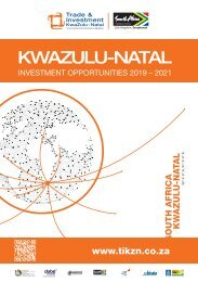 KwaZulu-Natal Investment Opportunities 2019 - 2021