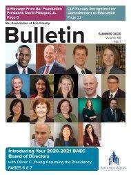 BAEC Summer 2020 Bulletin