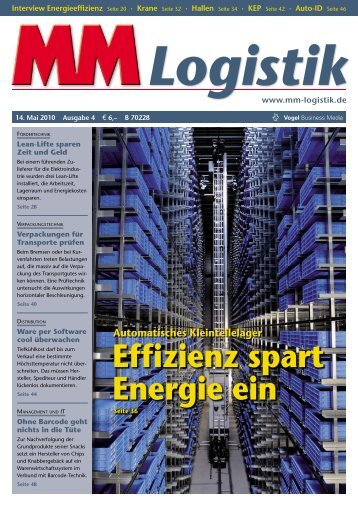 Kosten runter mit effizienten Antrieben - MM Logistik - Vogel ...