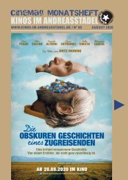 Cinemag | Kinoprogramm in Regensburg | 08-2020