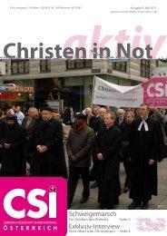 aktiv Christen in Not - CSI Österreich