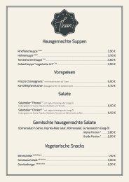 Speisekarte Theos Gasthaus