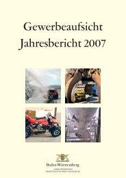Bericht der Gewerbeaufsicht - Gewerbeaufsicht - Baden-Württemberg